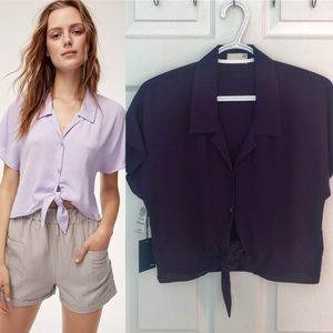 NWT Wilfred Free Tie Front Blouse